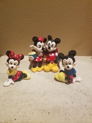 Disney porcelain Mickey and Minnie figurines for Sale in Fairview, OR