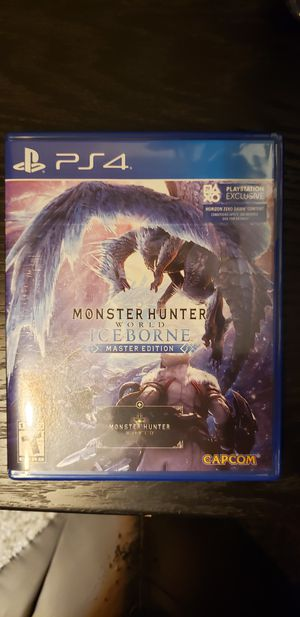 Monster Hunter Iceborne PS4 for Sale in Chicago, IL