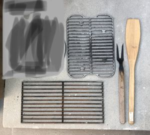 Barbecue Grill Grids Metal and extra long BBQ cooking ware, set of 4 for Sale in Los Angeles, CA