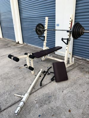 Olympic weight bench with 255 pound weight stack for Sale in Oviedo, FL