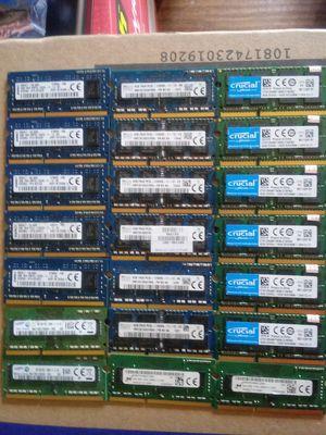 Used PC3L (1.35V) SODIMM Laptop memories for Sale in Dallas, TX