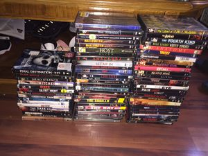70 DVD horror movie lot Halloween grudge Dracula paranormal activity and much more for Sale in Lynnwood, WA