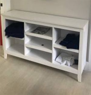White ultra flexible storage console unit with adjustable shelves for Sale in Boynton Beach, FL