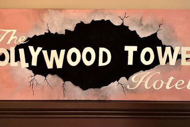 """12""""x36"""" Glowing Tower Of Terror Acrylic Painting for Sale in Suwanee,  GA"""