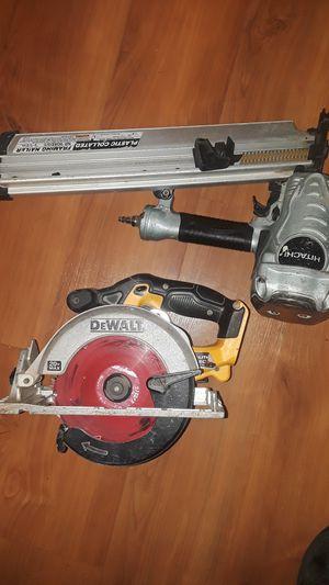 Hitachi nail gun / Dewalt cordless hand saw for Sale in Vallejo, CA