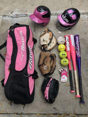 Softball equipment bat gloves helmet balls easton mizuno baseball for Sale in Culver City, CA