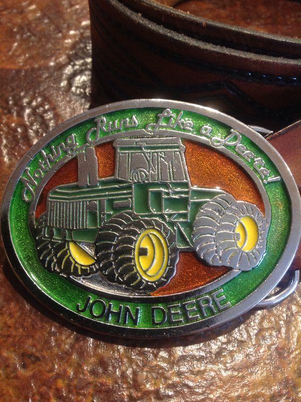 John Deere Tractor Belt and Buckle