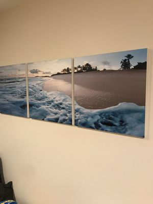 Beach Canvas Wall Decoration - Must Sell! for Sale in Fountain Valley, CA