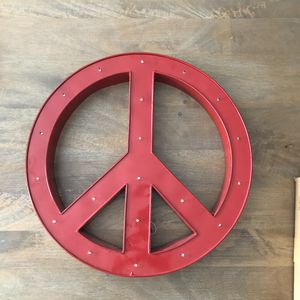 Metal Peace Sign Wall Art for Sale in Miami, FL