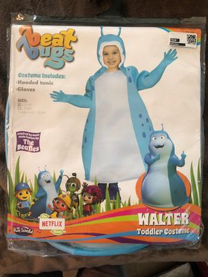 New Beat Bugs Walter Toddler Halloween Costume S 2T/3T for Sale in Fontana, CA