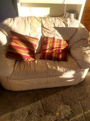 2 Sofa leather$100 for Sale in Boca Raton, FL