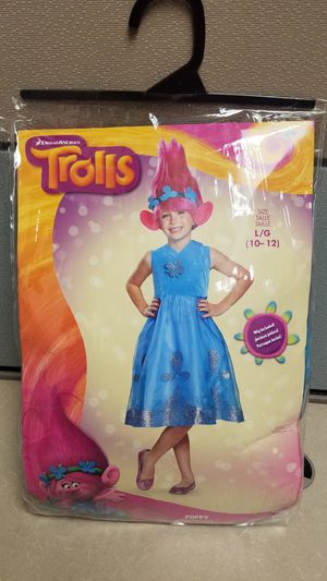 Poppy Trolls Costume Large 10/12 (Girl) for Sale in Austin, TX