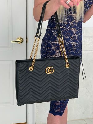 Gucci GG Marmont Medium Quilted Black Leather Tote for Sale in Farmingville, NY