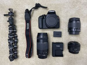 Canon T6 kit with 50 mm lens & camera tripod for Sale in Richmond, VA