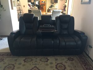 Dark Brown Leather Couch for Sale in Arvada, CO