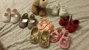8 pair Baby girl shoes for Sale in Virginia Beach, VA