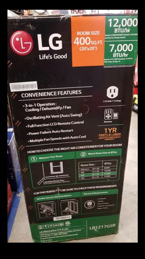 LG CORDED PORTABLE AIR CONDITIONER 3 IN ONE BRAND NEW for Sale in San Bernardino, CA