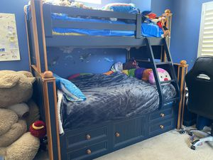 Solid wood kids bunk bedroom set for Sale in Laguna Niguel, CA