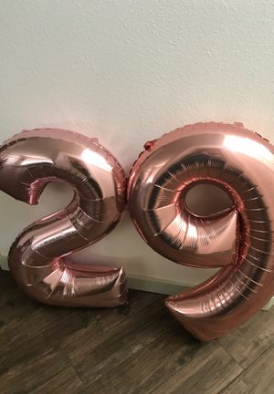 "Rose Gold ""2"" and ""9"" Inflated Balloons for Sale in Austin, TX"