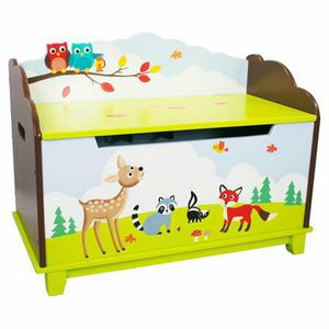 Fantasy Fields - Enchanted Woodland Thematic Kids Wooden Toy Chest with Safety Hinges 8b for Sale in Norcross, GA