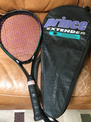 Prince Extender Synergy Tennis/Racket ball Racket with case $12 for Sale in Fresno, CA
