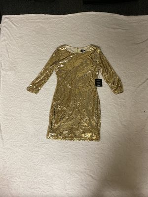 Lulus Gold Dress - Never Worn for Sale in Goldsboro, NC
