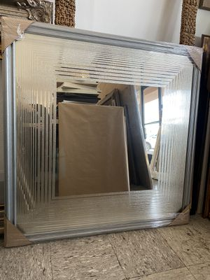 """Large square silver framed mirror 42"""" x 42"""" for Sale in Westminster, CA"""