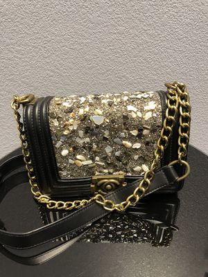 Chanel boy lamb skin leather , crossbody bag purse for Sale in Fort Worth, TX