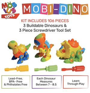 Dinosaur Toys Stem Kit (106 PCS) - STEM Learning Dino Take Apart Toys | Learning, Construction & Engineering Building Play Set for Kids, Boys & Girls for Sale in Azusa, CA