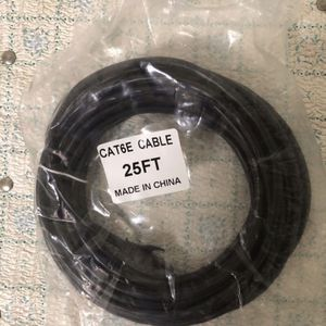 LINE 6, 25 ft CAT 6 Ethernet cable BRAND NEW for Line 6 FBV EXPRESS or MKII FOOT CONTROLLER, POD, 25 ft CAT, fender, guitar, bass, amp, computer rout for Sale in La Verne, CA