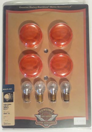 New Harley Davidson Motorcycle Turn Signal Lens Kit with Bulbs for Sale in Hollywood, FL