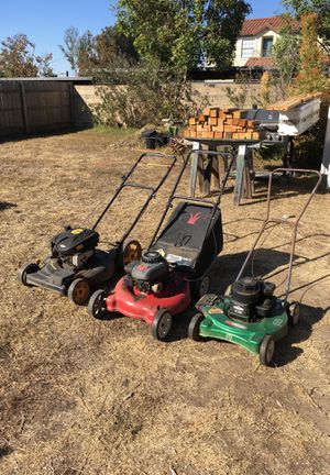 Three good lawnmowers for sale for Sale in San Diego, CA