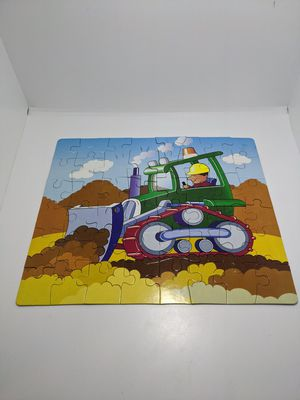 The Construction Zone Kids Builder Bulldozer 48 Piece Jigsaw Puzzle Game for Sale in Webster, MN