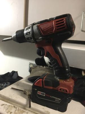0 Northern Tool Power Tools Drills + Milwaukee M18 Li-Ion Cordless Compact Electric Drill Driver 1/2in. Keyless Chuck, 1800 RPM With XC 5.0 M18 Ba for Sale in Santee, CA