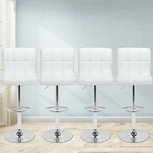 4 brand new white bar stools New in the box free delivery for Sale in Miami, FL