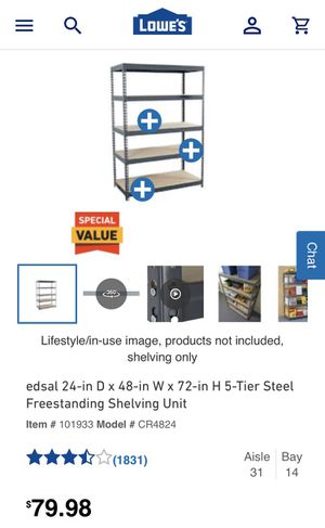 Lowe's Shelving Unit for Sale in Chesapeake, VA