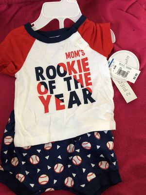 Cute baseball baby clothing! New with tags 0/3 months for Sale in East Los Angeles, CA