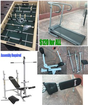 Treadmill + Foosball Table + Weight Bench (Assembly Required) for Sale in Tijuana, MX