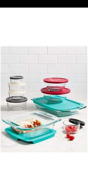 Pyrex Bake n store 18 piece set glass bakeware for Sale in Houston, TX