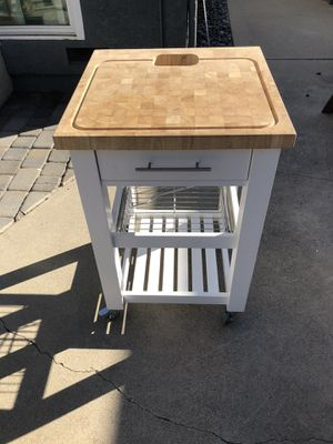 Butcher block rolling cart for Sale in Santa Ana, CA