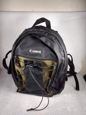 Canon 200 EG Deluxe DSLR Digital Camera Backpack Black & Olive Green Bag Case for Sale in Garland, TX