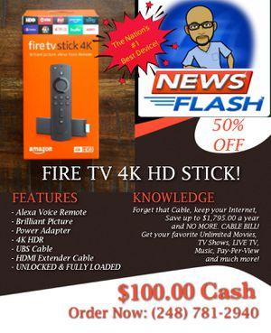 Fire TV 4K Ultra HD Stick for Sale in Detroit, MI
