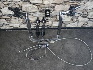 20 inch Cordova bagger Handel bars and 2 progressive shocks for Sale in San Bernardino, CA