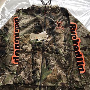 Men's extra-large BuckedUp Camo hunting or fishing sweatshirt for Sale in Fort Pierce, FL
