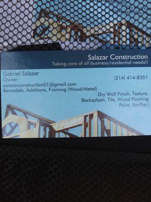 Salazar Construction!! for Sale in Dallas, TX