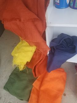 Burlap Material. 6 Different Colors All For $25. Read Description. for Sale in Pasadena,  TX