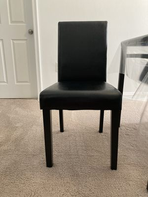 2 Brand new black leather chairs for Sale in Fairfax, VA