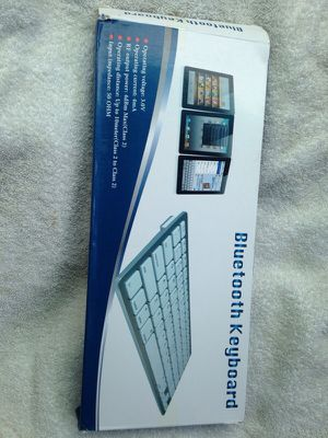Bluetooth keyboard. Brand new in box. Works with any bluetooth device for Sale in Northglenn, CO