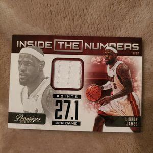 2012-13 Panini Prestige Lebron James #18 Inside The Numbers Jersey for Sale in Ocean Shores, WA