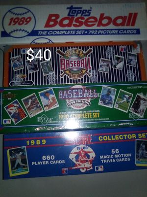 Baseball Cards - 4 new complete sets for Sale in Phoenix, AZ